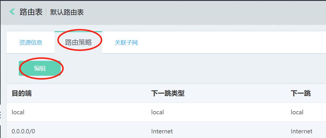 配置VPC到CPS内网的路由5