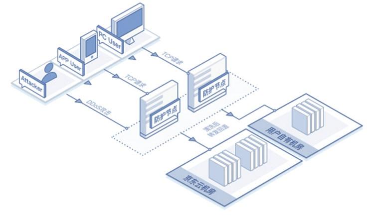 图 8 DDoS 防护示意图