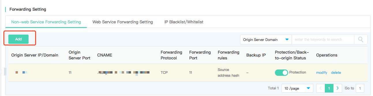 Non-Web Service Forwarding Rules