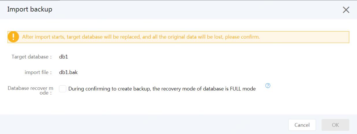 Import Backup 3